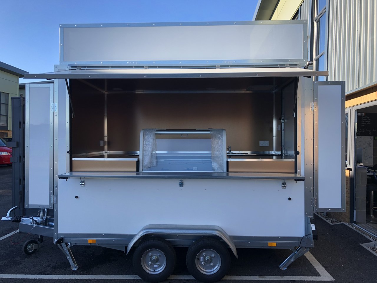 Custom catering trailer fully built to specifications